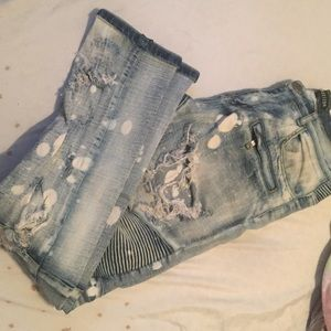 Mens Embellish Jeans